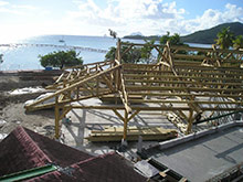 Autoclaved pine joinery at Club Med Martinique