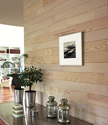Brushed white-leaded pine panels