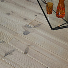White-leaded pine parquet flooring
