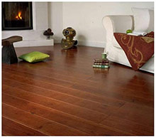 Cherrywood colour pine parquet flooring